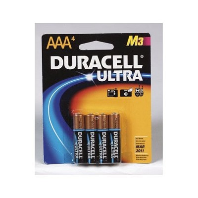 4 Pack AAA Alkaline Ultra Batteries for High-Tech Devices ( M3 Technology )