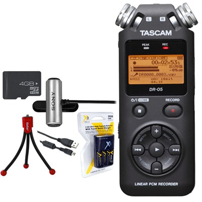 Portable Digital Recorder DR-05 with Deluxe Bundle