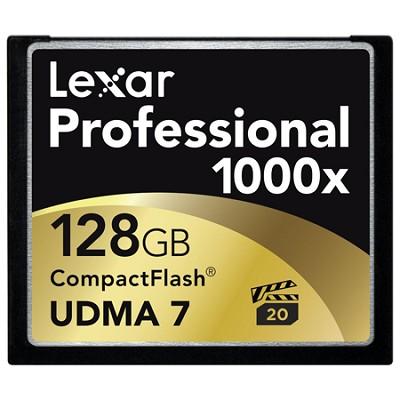 128 GB Professional 1000x Compact Flash (Thin Box) (LCF128CTBNA1000)