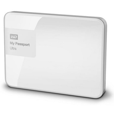My Passport Ultra 1 TB Portable External Hard Drive, White