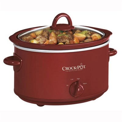 4-Quart Oval Manual Slow Cooker, Red - OPEN BOX