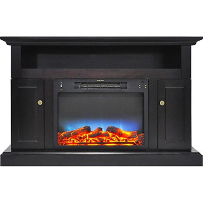 47.2 x15.7 x30.7  Sorrento Fireplace Mantel with LED Insert