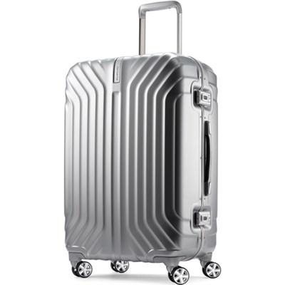 Tru-Frame Hard Shell Matte Silver 25` Spinner Suitcase