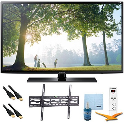 UN55H6203 - 55-Inch 120hz Full HD 1080p Smart TV Tilt Mount & Hook-Up Bundle