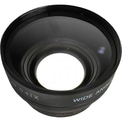 Professional .43X Wide Angle Lens w/ Macro - for 37mm threading