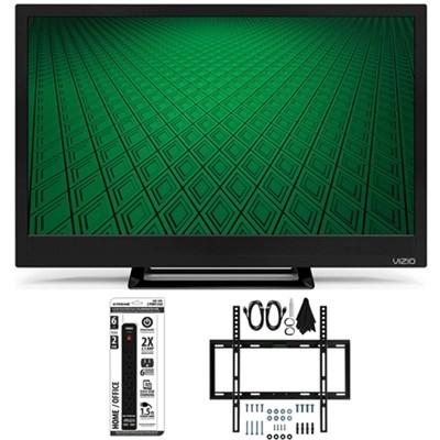 D24hn-D1 - D-Series 24-Inch Edge-Lit LED TV Slim Flat Wall Mount Bundle