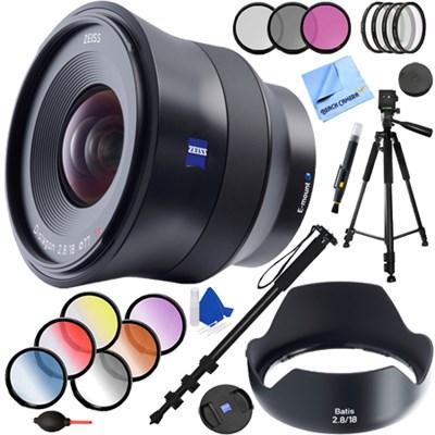 Batis 18mm f/2.8 Wide Angle Lens for Sony E Mount + 77mm Filter Sets Kit