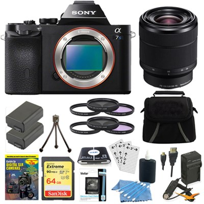 ILCE-7S/B a7S Full Frame Mirrorless Camera 28-70mm Lens Bundle