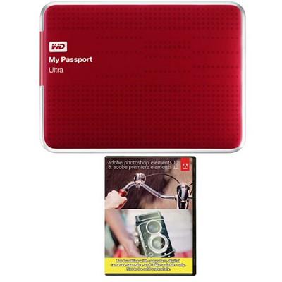 My Passport Ultra 2 TB USB 3.0 HDD Red & Photoshop Premiere Elements 12