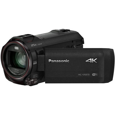 HC-VX870K 4K Ultra HD Camcorder with Wireless Smartphone Twin Video Capture
