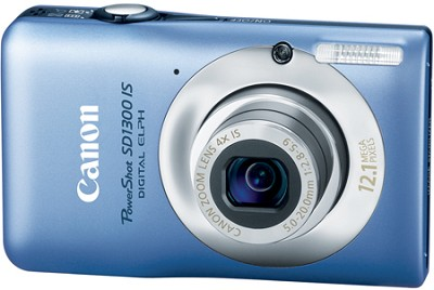 Powershot SD1300 IS 12MP Digital ELPH Camera (Blue) - FACTORY REFURBISHED