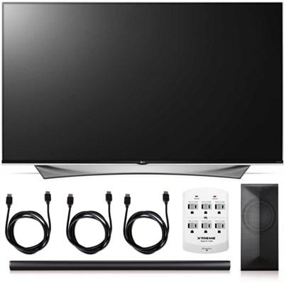 65UF9500 - 65-Inch 2160p 240Hz 3D 4K Smart TV + LAS751M 4.1 Channel Soundbar