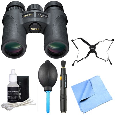7580 Monarch 7 Binoculars 10x30 Explorer Bundle