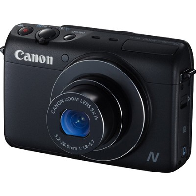 Powershot N100 12.1MP 5x Zoom 3-inch LCD Digital Camera - Black