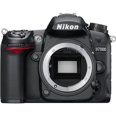 D7000 16.2MP DX-format Digital SLR Camera Body 1080p Video (Black) Refurbished