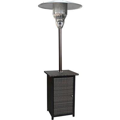 Square Wicker Patio Heater 7' tall Proppane 41000 BTU