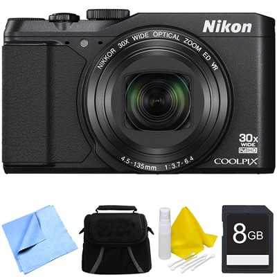 COOLPIX S9900 16MP HD 1080p 30x Opt Zoom Digital Camera - Black Bundle