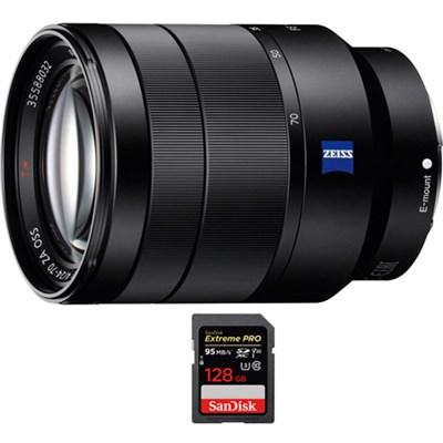 Vario-Tessar T* FE 24-70mm F4 ZA OSS Full Frame E-Mount Lens + 128GB Card