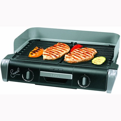 Emeril by T-fal  XL Griller with Removeable Grill Plates (Silver) - TG8000002