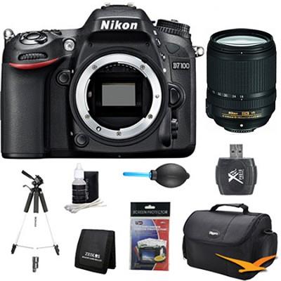 D7100 DX-Format Digital HD-SLR 18-140mm VR Pro Lens Bundle