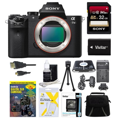 Alpha 7II Interchangeable Lens Camera Body 32GB Bundle