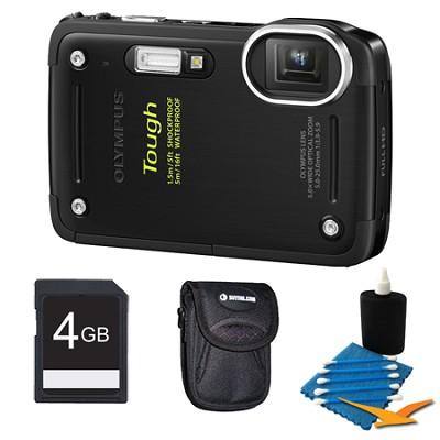Tough TG-620 iHS 12MP Waterproof Shockproof Freezeproof Digital Camera Kit-Black