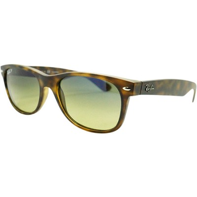 Wayfarer 52MM Polarized Sunglasses - Tortoise frame W/blue/green Lens