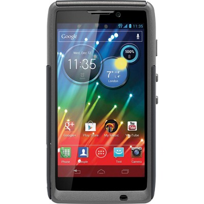 Commuter Series Case for Motorola RAZR HD - Retail Packaging - Black/Gunmetal
