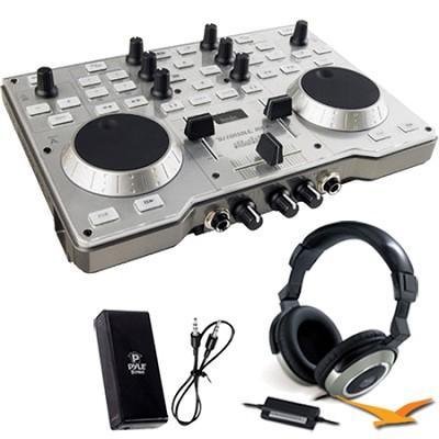 DJ Console MK4 Bonus Genius Headphones & Pyle Headphone Amplifier Kit