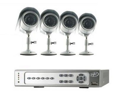 Web Ready H.264 DVR Security System with 4 Cameras