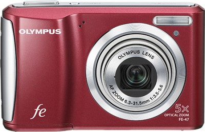 FE-47 14MP 2.7` LCD Digital Camera (Red)