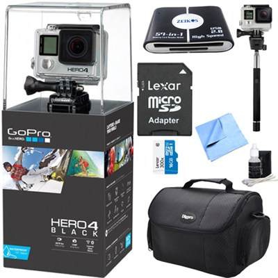 HERO 4 Black - 4K Action Camera All Inclusive Bundle