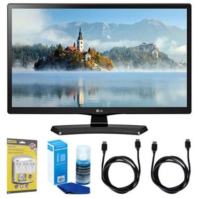 28LJ4540 28` 720p HD LED TV (2017 Model) w/ Accessories Bundle