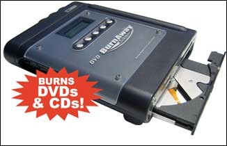 DVD-Burnaway Portable Memory Card to DVD/CD Burner