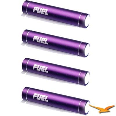 Bundle with 4 FUEL Active Mobile 2000 mAh Batteries w/ LED Flashlight (Purple)