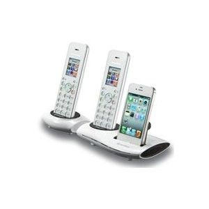 i700/i700E iCreation Black Cordless Phone- WHITE