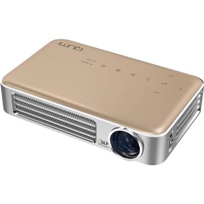 Qumi Q6 800 Lumen WXGA 720p HD LED Wireless Pocket Projector - Gold