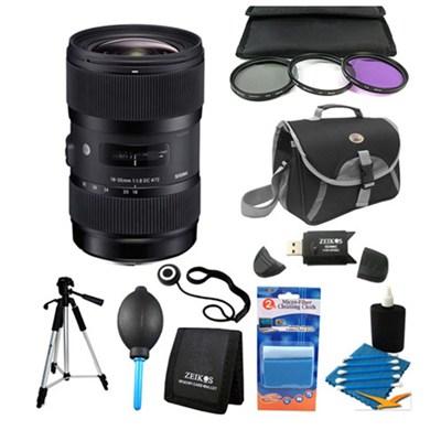 AF 18-35MM F/1.8 DC HSM Lens Kit for Canon