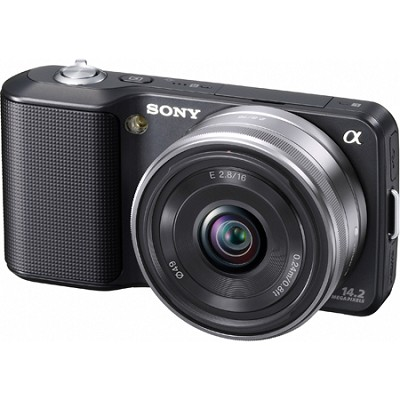 Alpha NEX-3 Interchangeable Lens Black Digital Camera w/ 16mm Lens