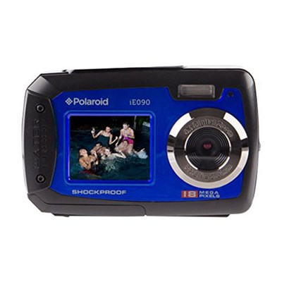IE090-BLU Waterproof Digital Camera with 2.7` LCD - Blue
