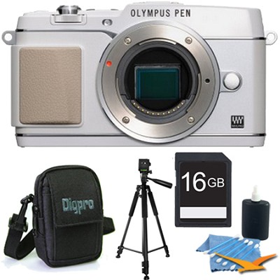 PEN E-P5 16MP Compact System Camera (White)(Body Only) 16GB Memory Kit