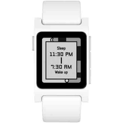 Pebble 2 HR Smartwatch - White/ Gray - 1002-00066