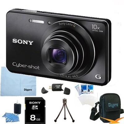 Cyber-shot DSC-W690 16MP 10X Zoom 720p Video Digital Camera (Black) 8GB Bundle