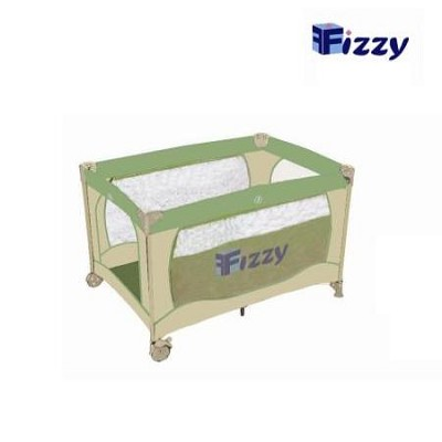 Full Sized Play Pen with Travel Bag - Green/Beige