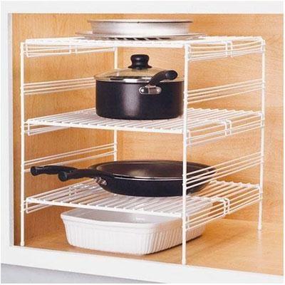 18` 3 Adjustable Base Cabinet Helper Shelf, White - OPEN BOX