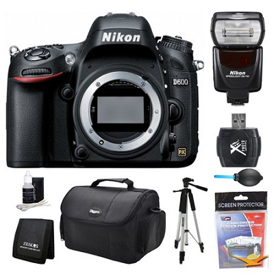 D600 24.3 MP CMOS FX-Format Digital SLR Camera Body Flash Kit