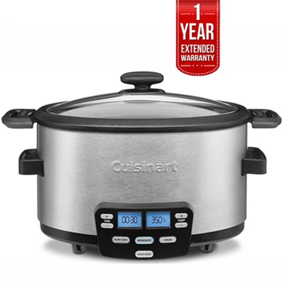 3-In-1 Cook Central Multi-Cooker, Slow Cooker, Steamer+1 Year Warranty