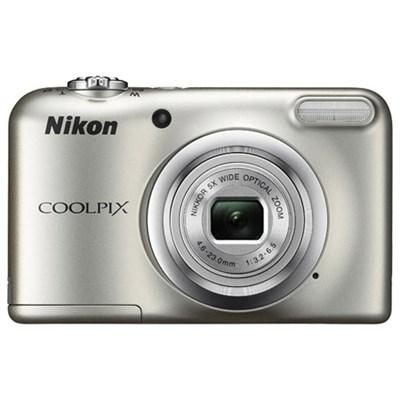 COOLPIX A10 16.1MP 5x Zoom NIKKOR Glass Lens Digital Camera - Silver Refurbished