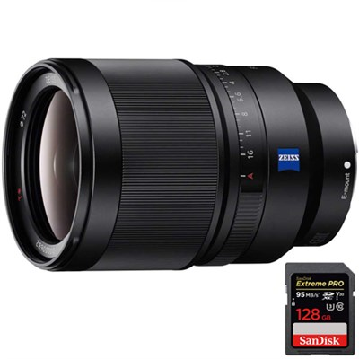 Distagon T FE 35mm F1.4 ZA Full-frame E-mount Prime Lens +128GB Memory Card