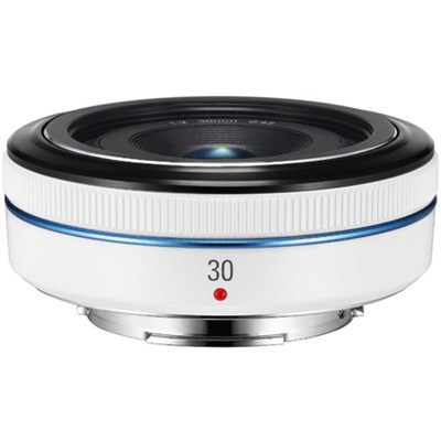 30mm  f/2.0 NX Pancake lens for NX Series Cameras - White - OPEN BOX
